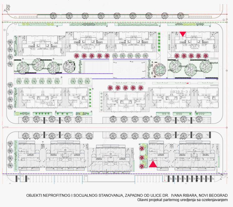 Projektovanje dvorista poslovnog kompleksa u ulici Ivana Ribara